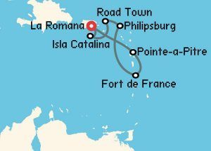 Crucero fin de estudios al Caribe